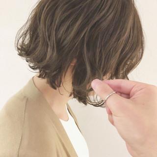 ボブ 透明感 ナチュラル 秋 ヘアスタイルや髪型の写真・画像