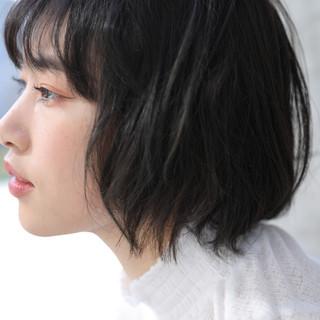 黒髪 ハンサムショート ナチュラル アンニュイほつれヘア ヘアスタイルや髪型の写真・画像