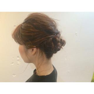 ミディアム 大人かわいい 成人式 簡単ヘアアレンジ ヘアスタイルや髪型の写真・画像