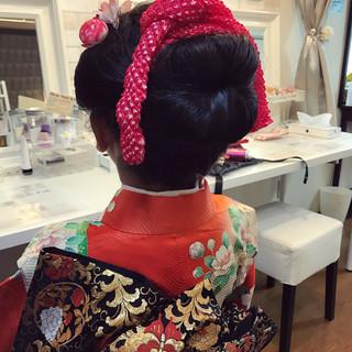 ヘアアレンジ 和服 ママ 着物 ヘアスタイルや髪型の写真・画像
