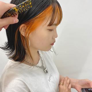 まとまるボブ 切りっぱなしボブ アンニュイ ボブ ヘアスタイルや髪型の写真・画像