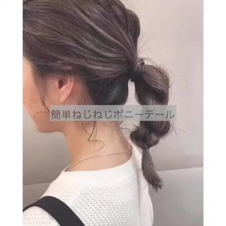 ヘアアレンジ 簡単ヘアアレンジ スポーツ フェミニン ヘアスタイルや髪型の写真・画像