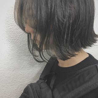 色気 暗髪 グラデーションカラー ハイライト ヘアスタイルや髪型の写真・画像