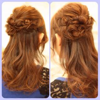 ガーリー 秋 ヘアアレンジ ロング ヘアスタイルや髪型の写真・画像