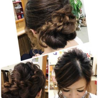 ヘアアレンジ 夏 結婚式 涼しげ ヘアスタイルや髪型の写真・画像