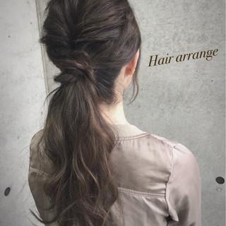 ショート ヘアアレンジ ゆるふわ ハーフアップ ヘアスタイルや髪型の写真・画像