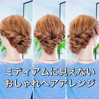 ヘアセット ヘアアレンジ アップスタイル セルフヘアアレンジ ヘアスタイルや髪型の写真・画像