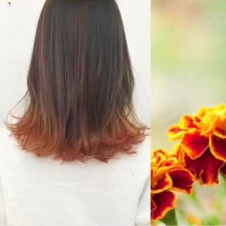 アッシュ ダブルカラー ピンク グラデーションカラー ヘアスタイルや髪型の写真・画像