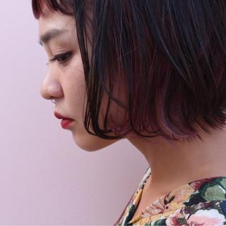 大人かわいい インナーカラー グラデーションカラー ストリート ヘアスタイルや髪型の写真・画像
