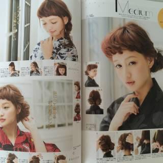 ヘアアレンジ モテ髪 セミロング コンサバ ヘアスタイルや髪型の写真・画像