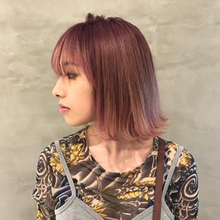 グラデーションカラー 女子力 モード ピンク ヘアスタイルや髪型の写真・画像