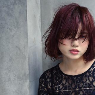 ウェットヘア ガーリー ストリート 外国人風 ヘアスタイルや髪型の写真・画像