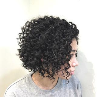 ハイライト ボブ グラデーションカラー ストリート ヘアスタイルや髪型の写真・画像