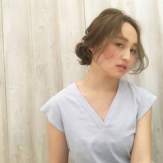 ルーズ 透明感 ヘアアレンジ 夏 ヘアスタイルや髪型の写真・画像