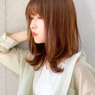 レイヤースタイル セミロング デジタルパーマ ゆるふわセット ヘアスタイルや髪型の写真・画像