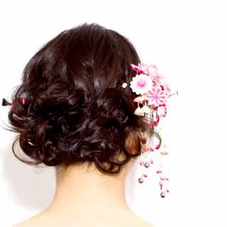 謝恩会 コンサバ アップスタイル 成人式 ヘアスタイルや髪型の写真・画像