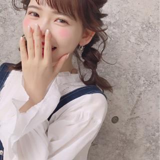 三つ編み おフェロ ミディアム 秋 ヘアスタイルや髪型の写真・画像