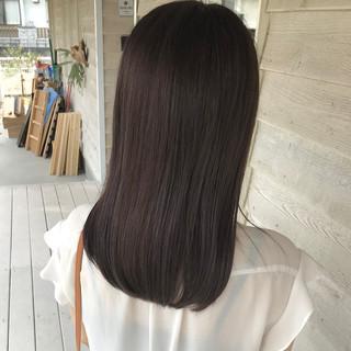アッシュ ショコラブラウン ナチュラル ハイライト ヘアスタイルや髪型の写真・画像