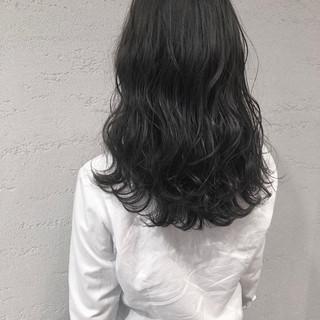 ブルージュ 暗髪 ナチュラル セミロング ヘアスタイルや髪型の写真・画像