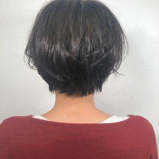 黒髪 デート ナチュラル ショート ヘアスタイルや髪型の写真・画像