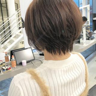 ショートヘア ショートボブ マッシュショート ハンサムショート ヘアスタイルや髪型の写真・画像