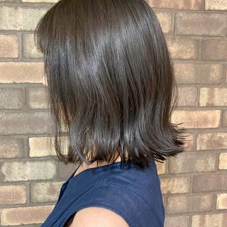 艶髪 N.オイル スロウ 切りっぱなしボブ ヘアスタイルや髪型の写真・画像