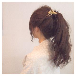 ヘアアレンジ 大人女子 簡単ヘアアレンジ 結婚式 ヘアスタイルや髪型の写真・画像