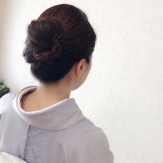 エレガント セミロング ヘアアレンジ 上品 ヘアスタイルや髪型の写真・画像