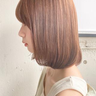 ナチュラル ミディアムレイヤー ストレート 縮毛矯正ストカール ヘアスタイルや髪型の写真・画像