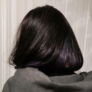 インナーカラー ボブ 個性的 グラデーションカラー ヘアスタイルや髪型の写真・画像