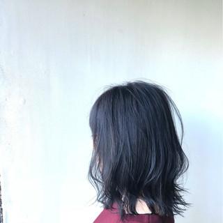 ボブ 外ハネ 黒髪 ナチュラル ヘアスタイルや髪型の写真・画像