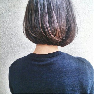 黒髪 ストリート ボブ 暗髪 ヘアスタイルや髪型の写真・画像