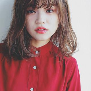 大人女子 こなれ感 前髪あり 小顔 ヘアスタイルや髪型の写真・画像