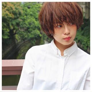 外国人風 ナチュラル ショート 大人かわいい ヘアスタイルや髪型の写真・画像