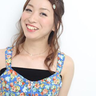 ヘアアレンジ 簡単ヘアアレンジ 大人かわいい 夏 ヘアスタイルや髪型の写真・画像
