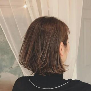 冬 外国人風 上品 ボブ ヘアスタイルや髪型の写真・画像