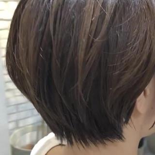 黒髪 ナチュラル ゆるふわ ショート ヘアスタイルや髪型の写真・画像