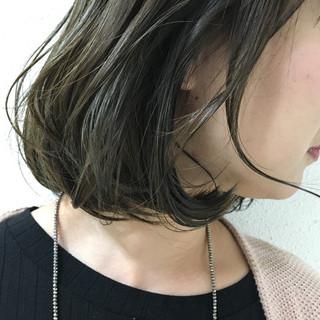 色気 アッシュ 透明感 ナチュラル ヘアスタイルや髪型の写真・画像
