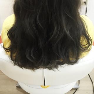 ガーリー ゆるふわ アッシュ 暗髪 ヘアスタイルや髪型の写真・画像