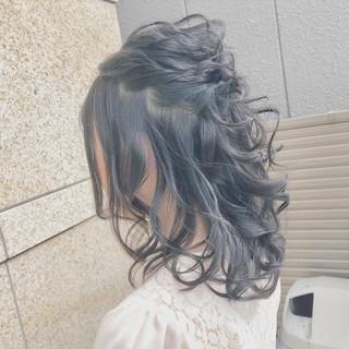 ミディアム ナチュラル ヘアアレンジ 簡単ヘアアレンジ ヘアスタイルや髪型の写真・画像