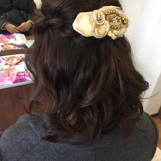 簡単ヘアアレンジ ヘアアレンジ ラフ ショート ヘアスタイルや髪型の写真・画像