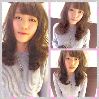 モテ髪 春 パーマ 外国人風 ヘアスタイルや髪型の写真・画像