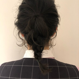 オフィス 結婚式 ミディアム ヘアアレンジ ヘアスタイルや髪型の写真・画像
