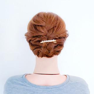 ヘアアレンジ ロング ミディアム くるりんぱ ヘアスタイルや髪型の写真・画像