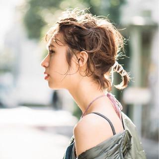 ニュアンス こなれ感 大人女子 アウトドア ヘアスタイルや髪型の写真・画像