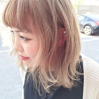 金髪 ストリート 外国人風 ヘアアレンジ ヘアスタイルや髪型の写真・画像