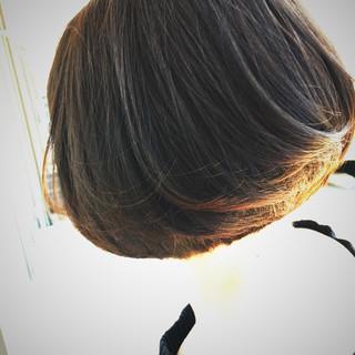 ストレート ボブ ワンカール 内巻き ヘアスタイルや髪型の写真・画像