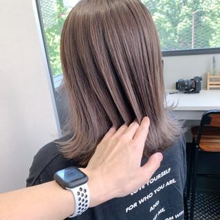 透明感カラー ボブ ナチュラル 切りっぱなしボブ ヘアスタイルや髪型の写真・画像