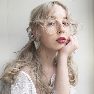 フェミニン エフォートレス ガーリー セミロング ヘアスタイルや髪型の写真・画像
