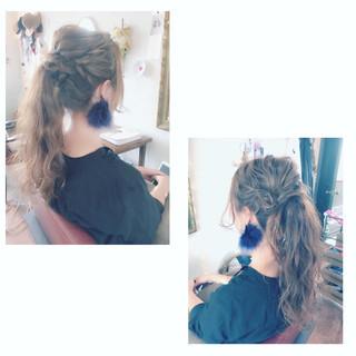 ゆるふわ 編み込み ショート ロング ヘアスタイルや髪型の写真・画像